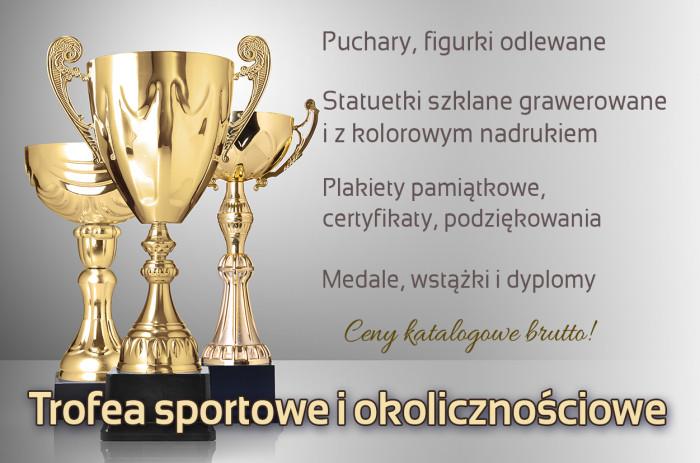 Puchary sportowe, trofea grawerowane